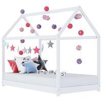 vidaXL sengestel til børneseng 90 x 200 cm massivt fyrretræ hvid