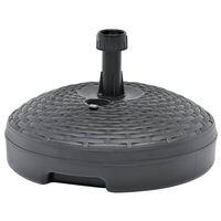 vidaXL parasolfod 20 l sand- eller vandfyld plastik antracitgrå