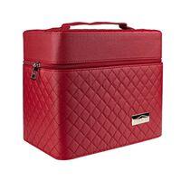 Makeup-taske med Spejl - Rød