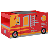 vidaXL børnebænkesæt 3 dele brandbilsdesign træ