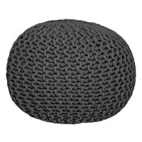 LABEL51 puf strikket bomuld str. M antracitgrå