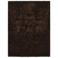 vidaXL shaggy tæppe 160 x 230 cm brun