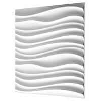 WallArt 3D vægpaneler lange bølger 12 stk. GA-WA22