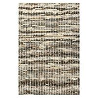 vidaXL gulvtæppe ægte læder med hår 80 x 150 cm sort/hvid