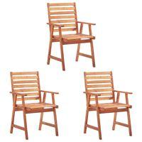 vidaXL udendørs spisebordsstole 3 stk. massivt akacietræ