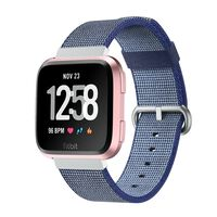 Fitbit Versa Nylon Armbånd - Mørkeblå