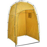 vidaXL telt til bruser/toilet/omklædning gul