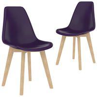 vidaXL spisebordsstole 2 stk. plastik lilla