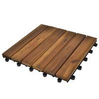Terrassefliser, lodret mønster, 30x30 cm, akacietræ, sæt med 20 stk.