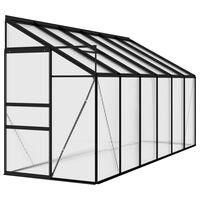 vidaXL drivhus 7,44 m² aluminium antracitgrå