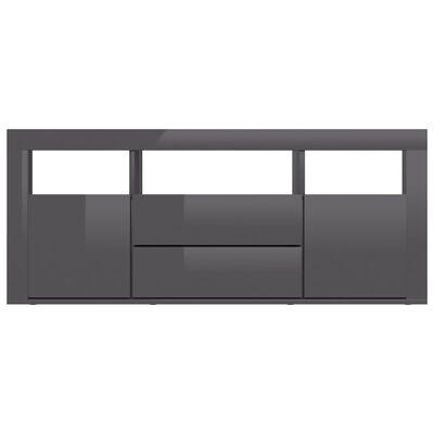 vidaXL tv-skab 120x30x50 cm spånplade grå højglans