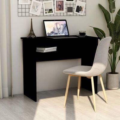 vidaXL skrivebord 90x50x74 cm spånplade sort