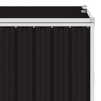 vidaXL firdobbelt skraldespandsskur 286x81x121 cm stål brun