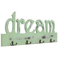 vidaXL vægophængt knagerække DREAM 50 x 23 cm