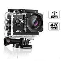 4K WiFi Action Camera med stort tilbehørssæt