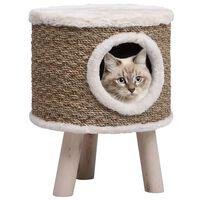 vidaXL kattehus med træben 41 cm søgræs