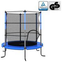 vidaXL trampolin med sikkerhedsnet 140x160 cm rund blå