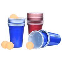 vidaXL beer pong-sæt 0,5 l plastik