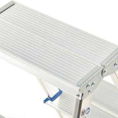 vidaXL dobbeltsidet trappestige 6 trin 136 cm aluminium