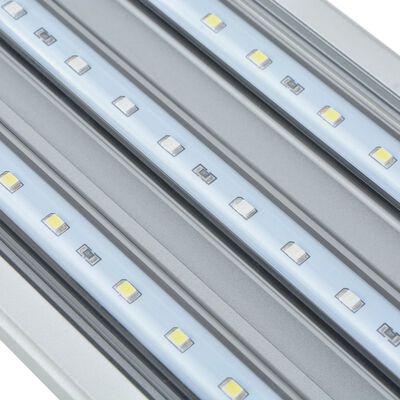 vidaXL LED-akvarielampe 120-130 cm aluminium IP67