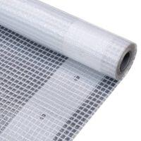 vidaXL leno-presenning 260 g/m² 4 x 10 m hvid