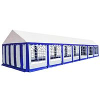 vidaXL teltdug 6 x 14 m blå og  hvid