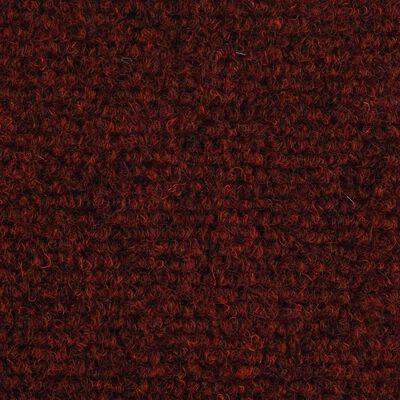 vidaXL selvklæbende trappemåtter 15 stk. nålenagle 65 x 21 x 4 cm rød