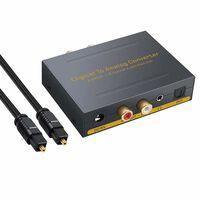 Digital til analog konverter - 2 Toslink / 2 koaksial til RCA R / L +