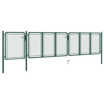 vidaXL havelåge 100x495 cm stål grøn
