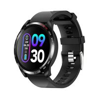 Vandtæt smartwatch med blodtryk og pulsmåler - Sort