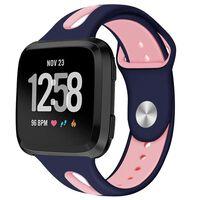 Fitbit Versa armbånd silikone - mørkeblå / lyserød