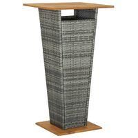 vidaXL barbord 60x60x110 cm polyrattan og massivt akacietræ grå