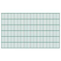 vidaXL havehegnspaneler 2D 2,008x1,23 m 24 m (total længde) grøn