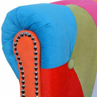 vidaXL Chesterfield 2-personers sofa stof