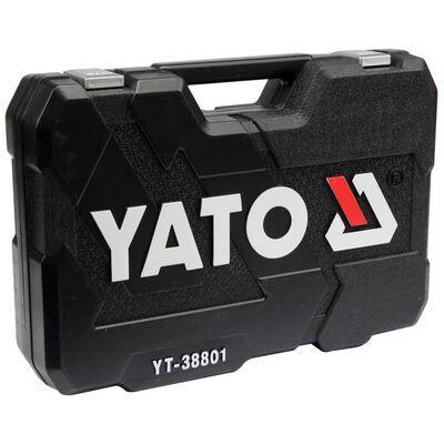 YATO Topnøglesæt med skralde i 120 dele YT-38801