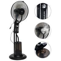 vidaXL kølende gulvventilator 3 vindhastigheder sort