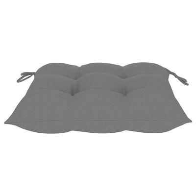 vidaXL hynder til havestole 4 stk. 50x50x7 cm stof grå