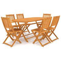 vidaXL foldbart udendørs spisebordssæt 9 dele massivt akacietræ