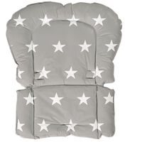 roba polstret støttepude Little Stars grå 50 x 65 x 3,5 cm