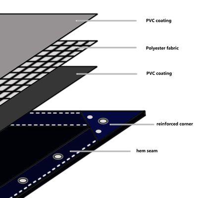 vidaXL presenning 650 g/m² 4 x 7 m blå