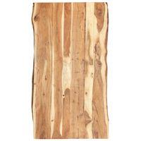 vidaXL bordplade 120x(50-60)x3,8 cm massivt akacietræ