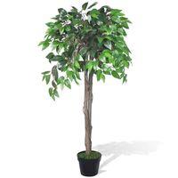 Kunstig Plante Ficus Træ med Potte 110 cm