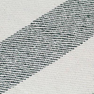 vidaXL plaid 125 x 150 cm stribet bomuld mørkegrøn