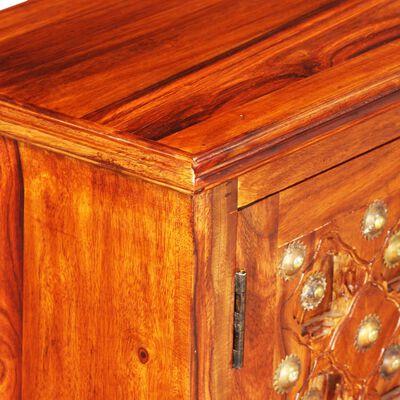 vidaXL TV-bord i massivt sheeshamtræ 120 x 30 x 40 cm