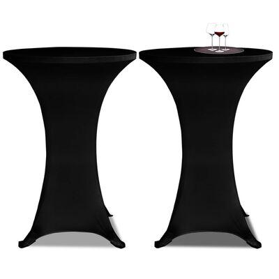 Stående borddække Ø80 sort i strækmateriale 2 stk
