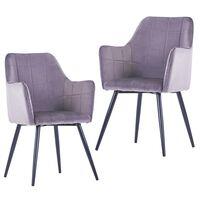 vidaXL spisebordsstole 2 stk. fløjl grå