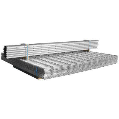 vidaXL 2D gabionhegn galvaniseret stål 2,008x1,03 m 4 m sølvfarvet
