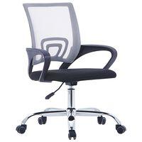 vidaXL kontorstol med ryglæn i netstof stof grå