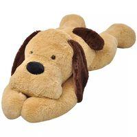 vidaXL hund plysdyr brun 120 cm