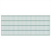 vidaXL havehegnspaneler 2D 2,008x0,83 m 10 m (total længde) grøn